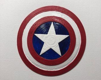 Captain America's Shield Inspired Brooch