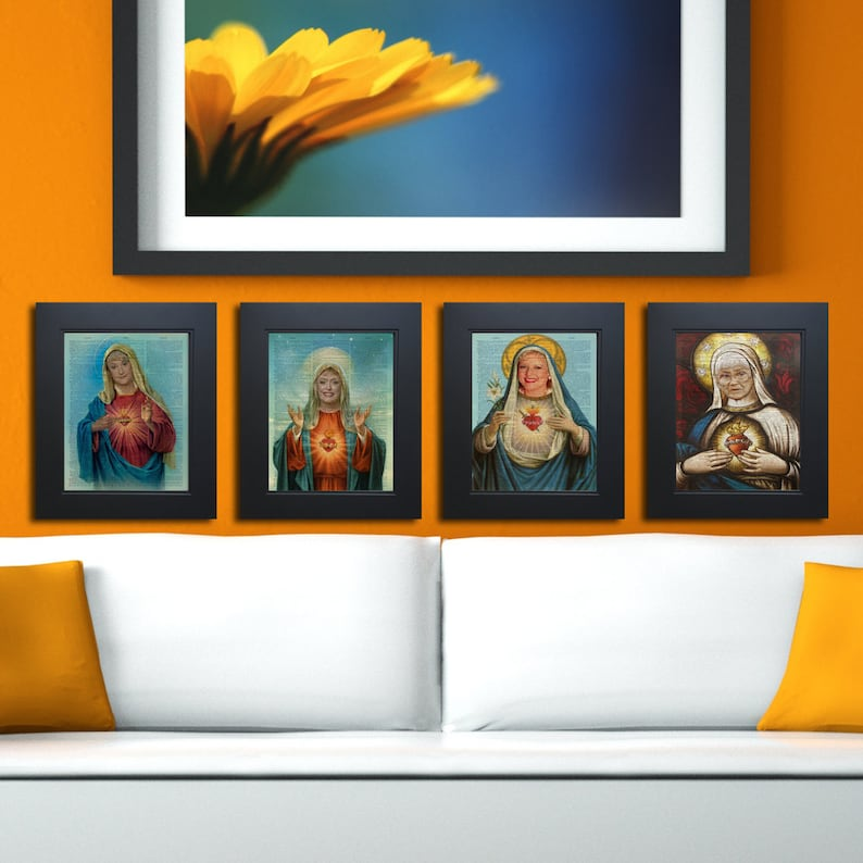 Complete set of 4 Sacred Heart Golden Girls Thank you for image 0