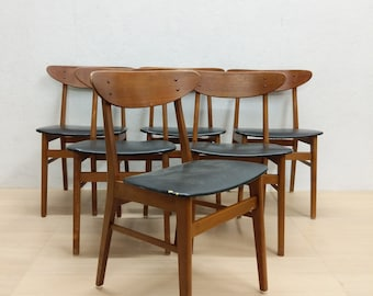 d2bb7ab210d6 Set of 6 Vintage Danish Modern Farstrup Dining Chairs
