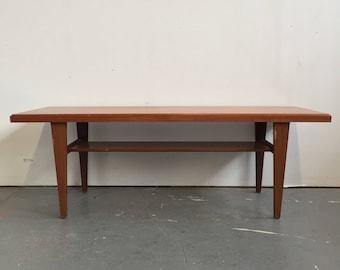 Vintage Danish Modern Teak Coffee Table   Free NYC Delivery!