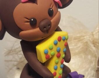 Animal cake topper birthday, Animal cake topper, Animal first birthday, Monkey cake topper, Monkey first birthday, Monkey birthday, Custom