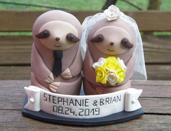 Sloth wedding cake topper Sloth cake decoration Sloth gift ...