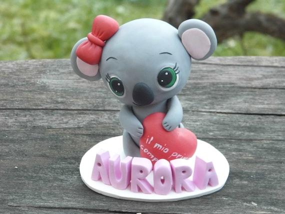 Enjoyable Koala Birthday Cake Topper Personalized Girl Baby Shower Etsy Funny Birthday Cards Online Hetedamsfinfo