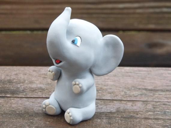 Phenomenal Elephant Birthday Cake Topper Babies 1St Birthday Cake Etsy Funny Birthday Cards Online Overcheapnameinfo