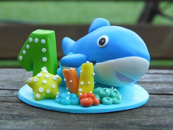 Hai Kuchen Deckel Junge Geburtstag Blau Kuchendeckel Etsy