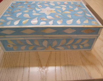 """Wooden Box, with """"Mother of Pearls"""""""