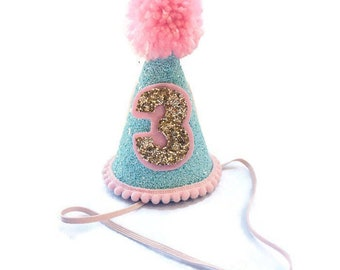 Pink Birthday Hat Carnival Mini 2nd 1st Party