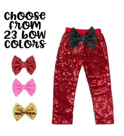 e87d4ec478d781 Red Sequin Pants Red Baby Pants Girl Red Leggings Baby Girl Pants ...
