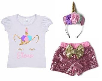 Unicorn Shirt, Birthday Shirt, Unicorn Outfit, Birthday Outfit, Unicorn, Unicorn Party, Unicorn Birthday, Girls Unicorn Shirt, Birthday