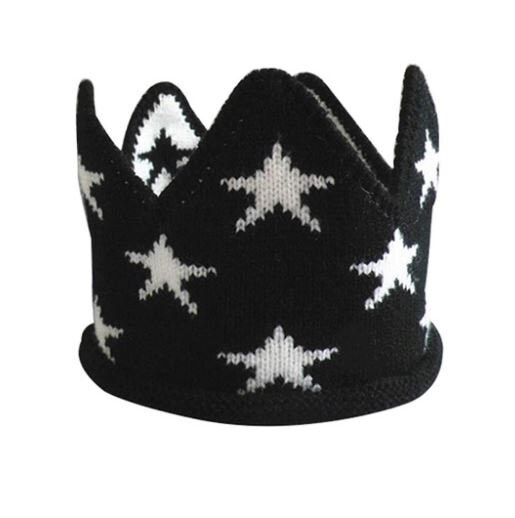 Boys 1st Birthday Crown Hat First Cake Smash 2nd 3rd Photo Prop Black