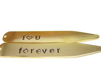 Customizable Gold Plated Collar Stays