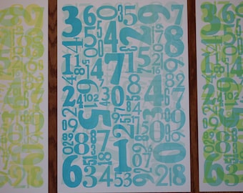 Numbers Letterpress Poster