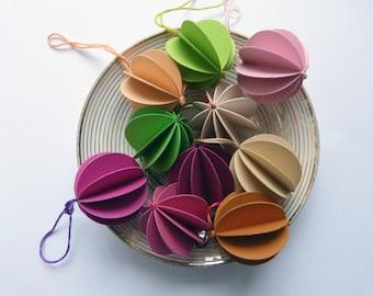 10 paper balls spring paper pendant