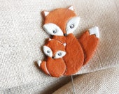 Fox ornament 2 Curtain tie backs Fall decor for nursery Kids room decoration Autumn home decor Curtain holdback Original gift for kids
