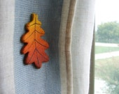 Fall decor Curtain tieback Magnetic curtain holdback with fall leaf Nature decorations Autumn leaves ornament Forest themed Home gifts