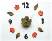 Nordic wall clock Forest themed decor Nature inspired art Botanical wall decal Fireplace wall art Yoga studio decor Plant lover gift for her