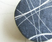 Tiebacks modern recycled paper Magnet tiebacks with stone Minimalist holdback design Nautical decor  Housewarming gift for beach house 1pc