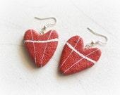 Heart stone earrings Love...
