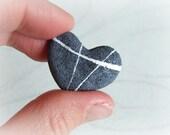 River pebble heart ring M...