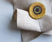 Curtain tie backs Sunflower curtain holdback Rustic decor for kitchen Magnetic tiebacks Flower Curtain hooks 2 piece Housewarming gift