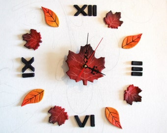 Wall clock silent movement with roman numeralsFireplace decor ideas Wall stickers woodland kitchen decor Hygge gifts Huge Christmas