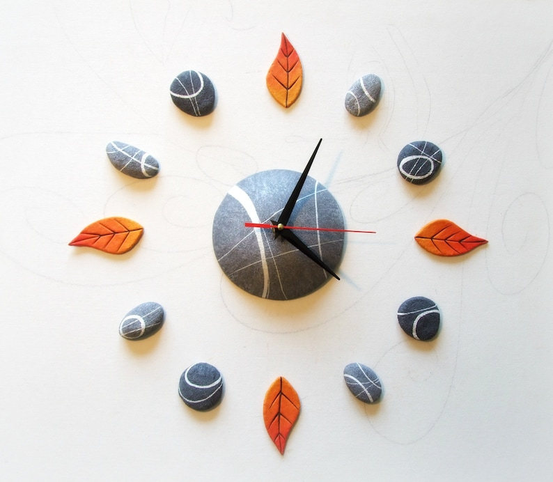 Large wall clock oversized home decor Unusual wall clocks image 0