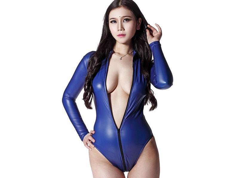 4e9cbaf1580e LinvMe Women s Sexy Bodysuit Catsuit Long Sleeve Synthetic