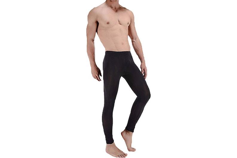 994f0f216f27f LinvMe Men's Ice Silk See Through Long Pants Slim Leggings | Etsy