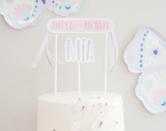 Printable Cake Topper - Butterfly Party - Flutter on over