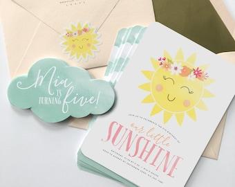You Are My Sunshine Birthday Invitation