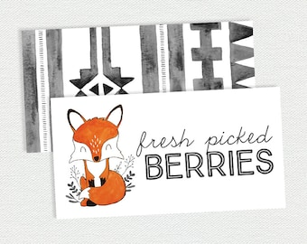 Printable Food Labels - Our Little Fox Birthday
