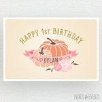 Pumpkin Backdrop - Our Little Pumpkin Party