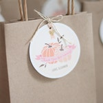 Printable Favor Tag - Our Little Pumpkin - pink and gold