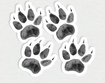 Printable Fox Paw Tags - Little Fox Birthday