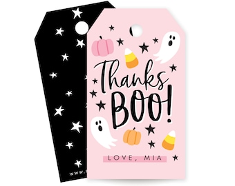 Halloween Party Favor Tags - Hey Boo