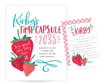 Time Capsule Sign and Cards - Berry Sweet Birthday