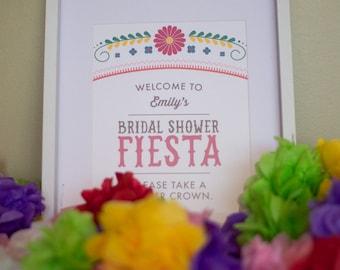 Custom Printable Welcome Sign - Fiesta - Mexican - Cinco De Mayo