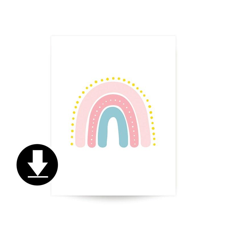 Printable Rainbow Art  medium image 0