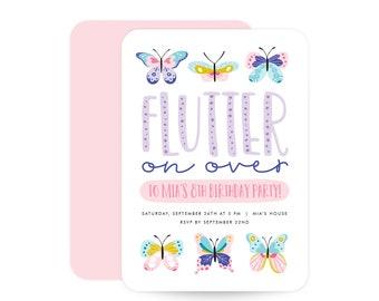 Butterfly Birthday Invitation - Flutter on over