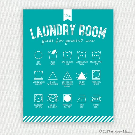 picture regarding Printable Laundry Symbols known as Printable Laundry Area Wall Artwork (Heavy) - Laundry Symbols by way of
