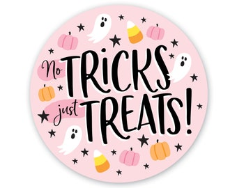 Halloween Sticker - Favor Tag - Packaging