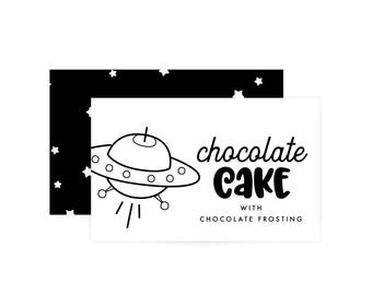 Custom Food Labels - Space Birthday