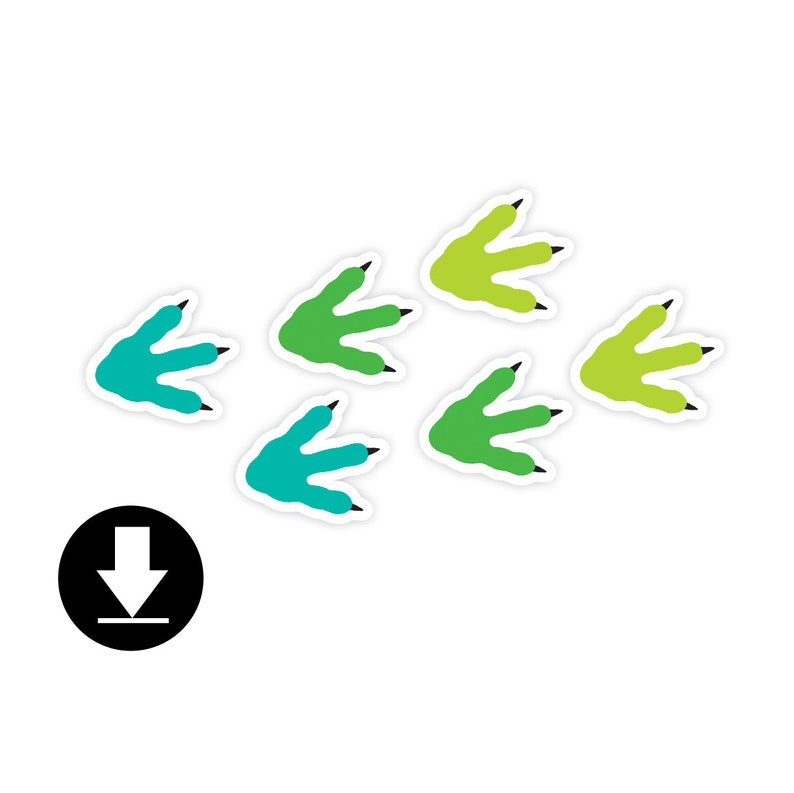 Instant Download  Cake Topper  Dinosaur Party image 0