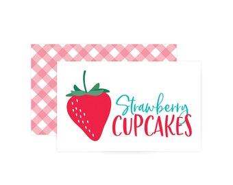 Custom Food Labels - Berry Sweet Birthday