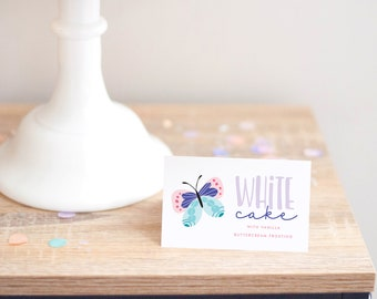 Printable Food Labels - Butterfly Party - Flutter