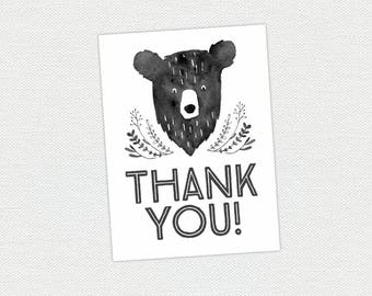 Printable Thank You Card - Man Cub Birthday