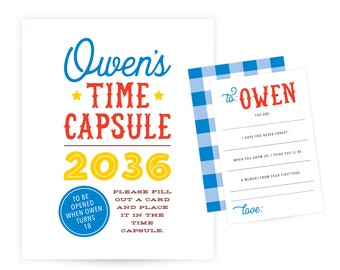 Time Capsule Sign and Cards - County Fair Birthday