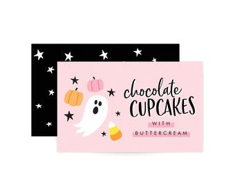 Custom Food Labels - Hey Boo - Halloween