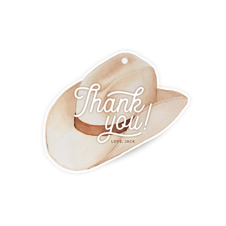 Cowboy Hat Favor Tags image 0
