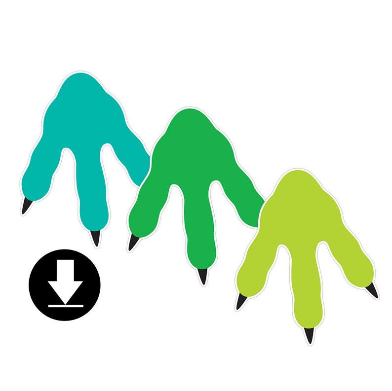 Instant Download  Dinosaur Footprints  Garland image 0